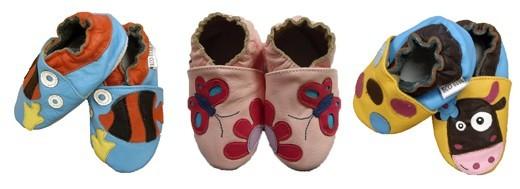 chaussons cuir bébé pas cher