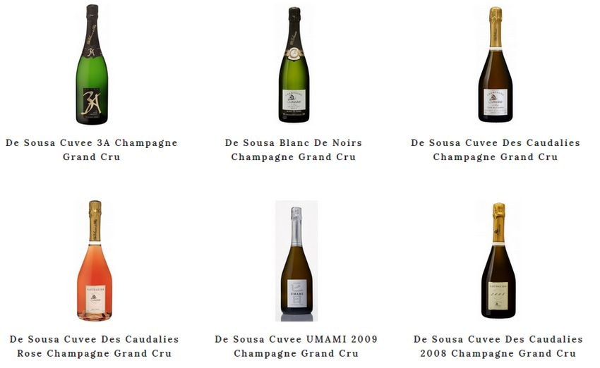 collections de champagne de sousa